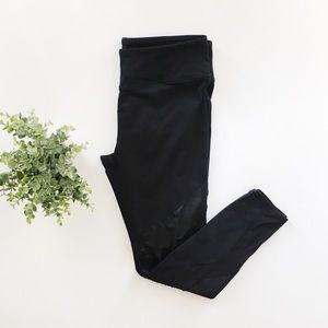 Fabletics Black Clover Mesh Leather Legging